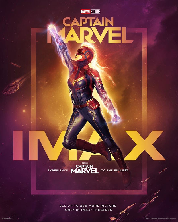 Cartel IMAX de Capitana Marvel