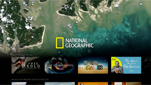 Sección National Geographic en Disney+