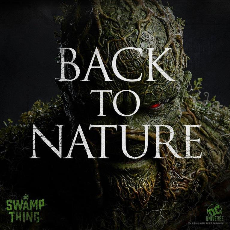 "Tres cartelitos de ""Swamp Thing"""