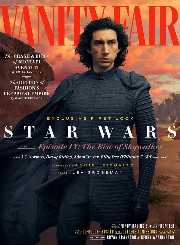 Portada Vanity Fair de El ascenso de Skywalker