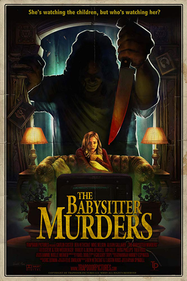 "Cartel de ""The Babysitter Murders"", la base de este film The Mortuary Collection"