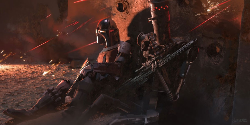 "Concept art de ""The Mandalorian"" por Nick Gindraux"
