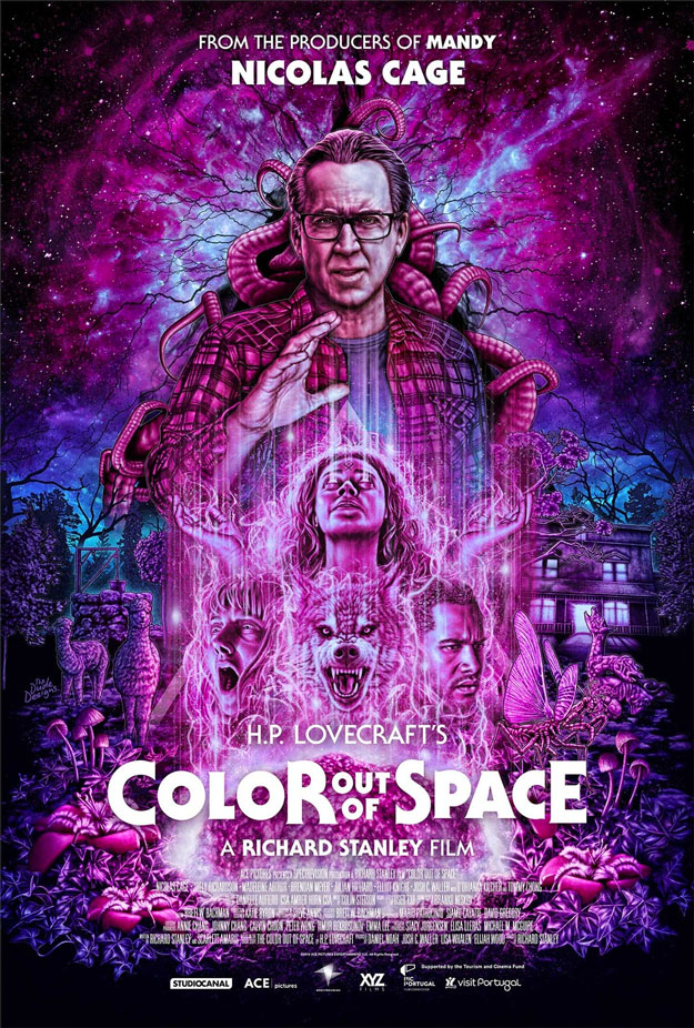 Magistral cartel de Color out of Space de Richard Stanley