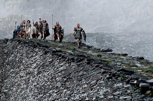 Perseo comandando la comunidad... digo su unidad de guerreros