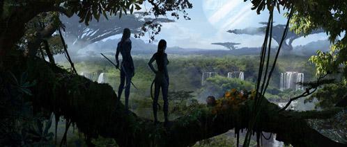 Escenario de Avatar dibujado por Dylan Cole