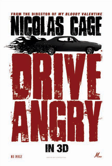 Primer póster de Drive Angry
