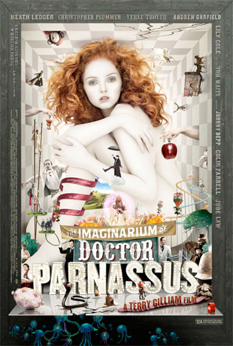 Cartel británico de El imaginario del Doctor Parnassus