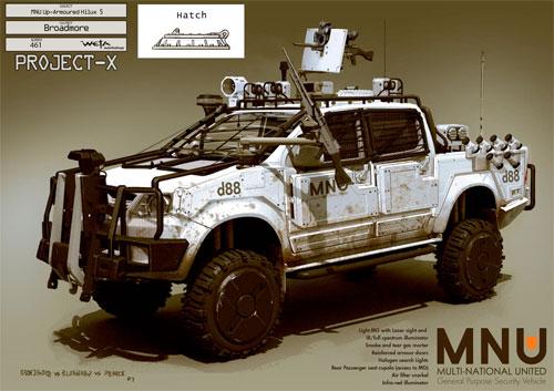 Arte conceptual de District 9 - Vehículo del MNU
