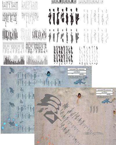 Arte conceptual de District 9 - Propuestas de escritura alien