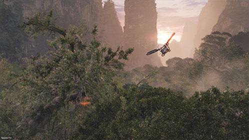 La selva de Pandora a vista de pájaro