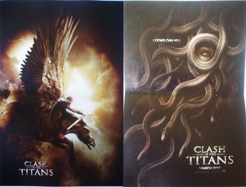 Pósters de Clash of the Titans... Pegaso y Medusa
