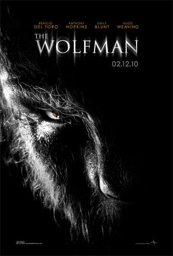 Primer póster de The Wolfman con el Hombre Lobo
