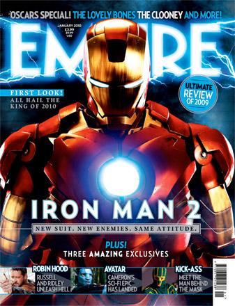 Portada dedicada a Iron Man 2 del último número de Empire