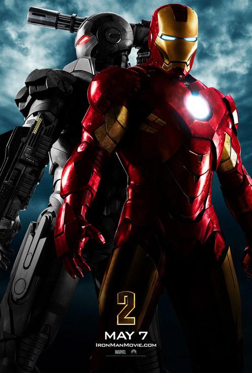 Póster de Iron Man 2 con War Machine como invitado de lujo