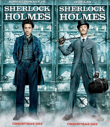 Nuevos carteles de Sherlock Holmes: Robert Downey Jr. y Jude Law