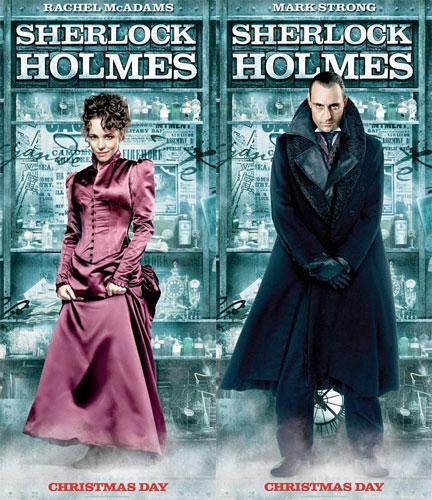 Nuevos carteles de Sherlock Holmes: Rachel McAdams y Mark Strong