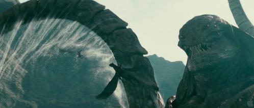 Perseo a lomos de Pegaso escapado de Kraken
