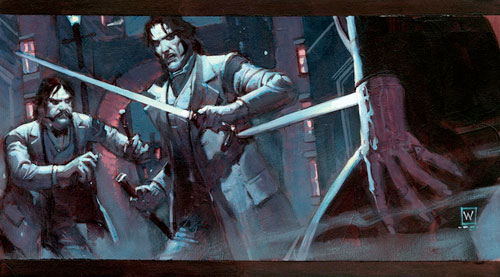 Arte conceptual de John Watkiss para Sherlock Holmes (1400$)