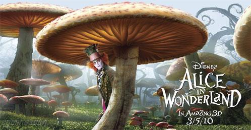 Cartel de Alice in Wonderland aparecido en ComingSoon.net