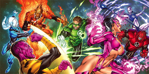 Green Lantern, Sinestro, Carol Ferris, etc.