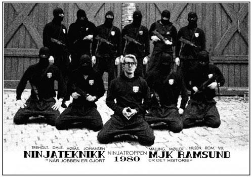 Cartel de algo llamado Norwegian Ninja que apunta a caspa de la buena