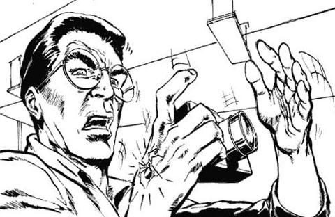 Detalle del storyboard del Spider-Man de James Cameron: Peter Parker picado