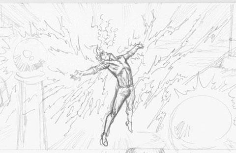 Detalle del storyboard del Spider-Man de James Cameron: Electro