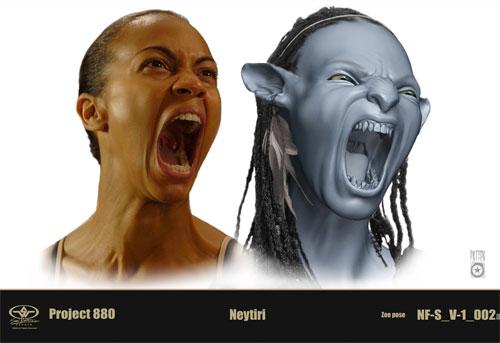 Detalle de las pruebas realizadas por Zoe Saldana para Avatar
