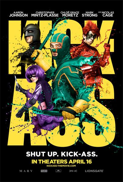 Fabuloso cartel de Kick-Ass cortesía de Lionsgate