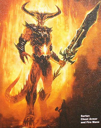 Diseño de Surtur para el videojuego de Thor que saldrá a la par que la película de Marvel Studios