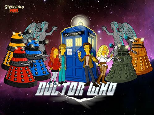 Fabulosa recreación del nuevo Doctor Who en modo simponizado