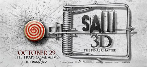 Nuevo cartel de Saw 3D