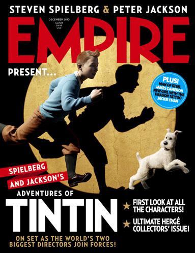 Portada de la próxima revista Empire y primer vistazo a Tintín (Jamie Bell) y Milú