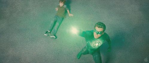 Hal Jordan haciendo su trabajo