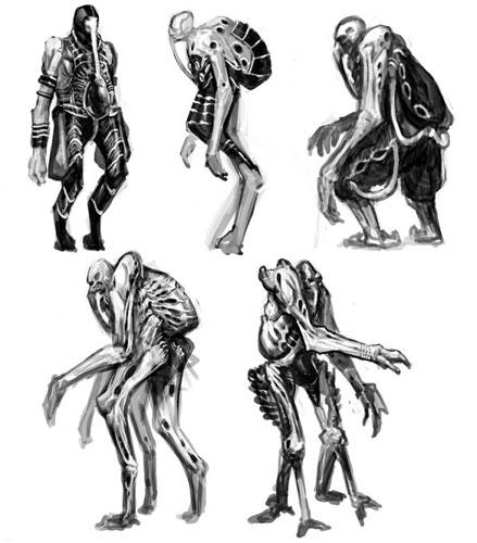 Supuesto concept art del Space Jockey de la precuela de Alien