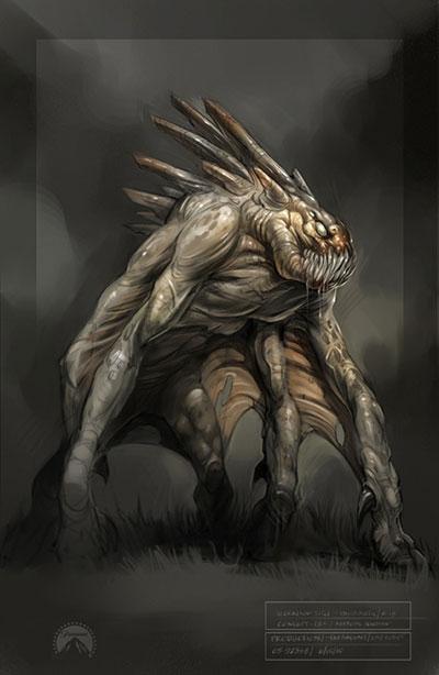 ¿Posible concept art de Super 8 o un viejo diseño de Monstruoso?