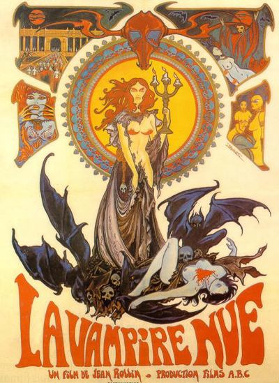 Cartel de Desnuda entre las tumbas (La Vampire Nue)