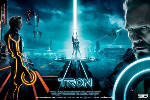 Uno de los carteles de TRON: Legacy
