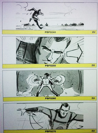 Supuesto storyboard de X-Men: First Class