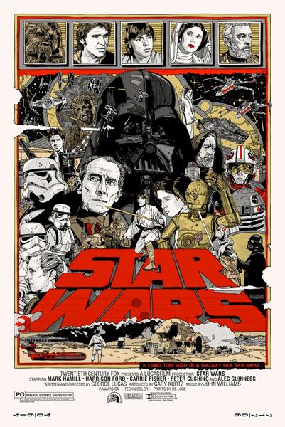Cartel de La guerra de las galaxias por Tyler Stout