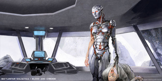 "Prometedor concept art de ""Battlestar Galactica: Blood and Chrome"""