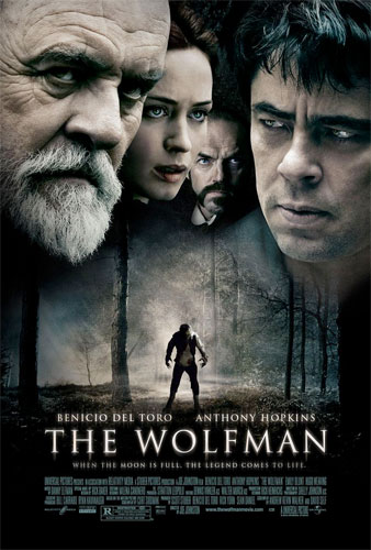 Póster final para USA de The Wolfman de Joe Johnston
