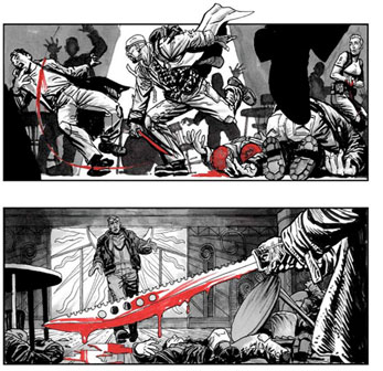 Storyboard de El libro de Eli y muestra de la implacable violencia del film