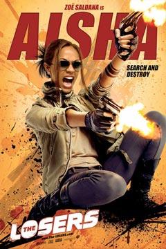 Cartel de Aisha para The Losers
