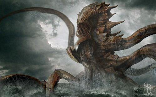 Arte conceptual de Furia de Titanes: Propuesta para el Kraken