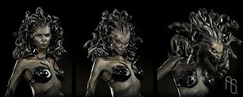 Arte conceptual de Furia de Titanes: la transformación de Medusa