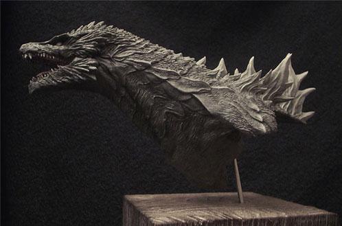¿Una de las propuestas de diseño para el nuevo Godzilla?