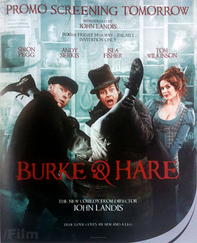 Promo póster de Burke & Hare presentado en Cannes