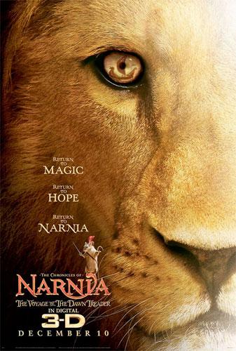 Póster de Las Crónicas de Narnia: la travesía del viajero del alba