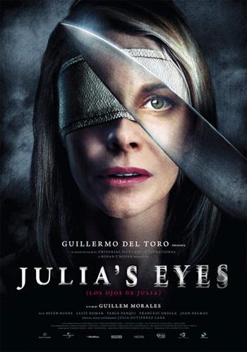 Primer póster internacional de Los ojos de Julia